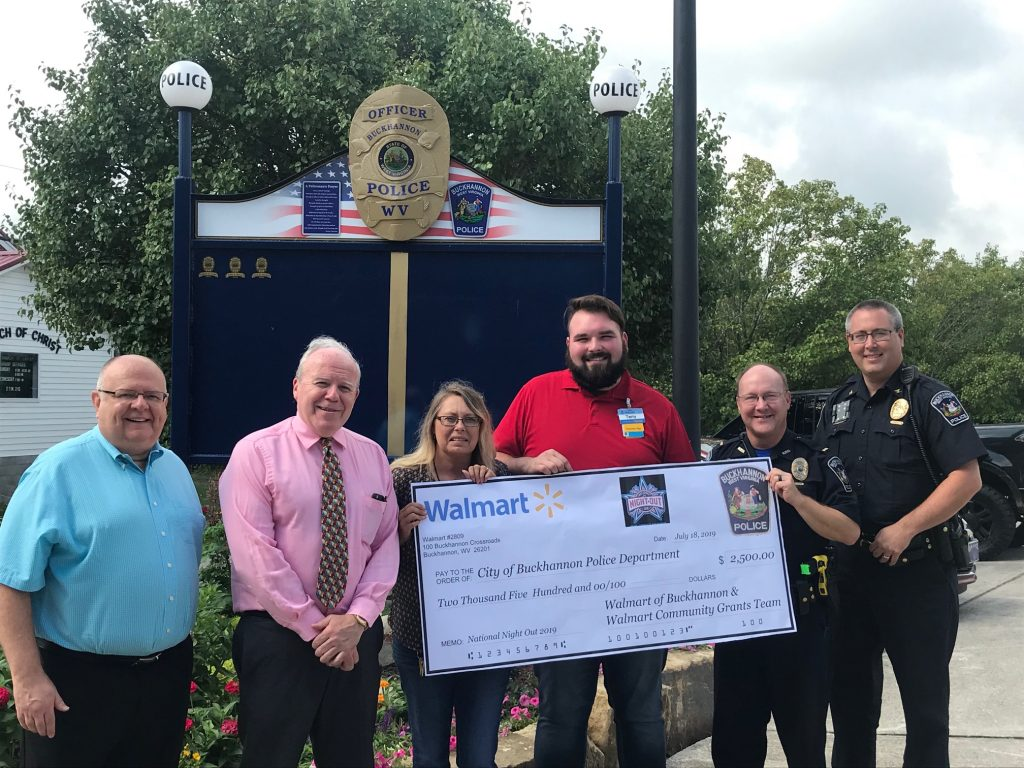 CITY OF BUCKHANNON » Walmart supports National Night Out with $2,500